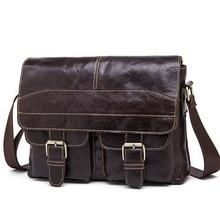 Genuine leather men bag fashion cowhide men messenger bag handbags leather shoulder crossbody bags business bags free shipping