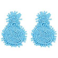 Natural Bohemian Handmade Dangle Earrings for Women Elegant Korean Style New Design Beads Jewelry Wedding Gifts