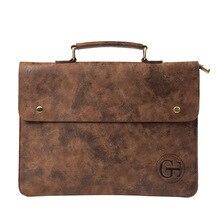 Dosya cebi İş çantası erkek iş çantası PU deri çanta erkekler ofis kamuflaj çanta belge veri paketi A4 dosya cep
