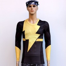Flash man Quick Dry Anti Ultraviolet  Long Sleeve T-Shirt Sweat Tight Clothing Outdoor Cycling Suit Sportswear Bicycle Clothing