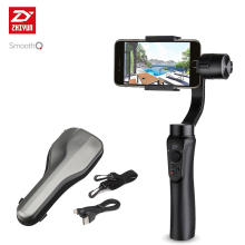 Zhiyun в наличии гладкой Q смартфон 3 оси Gimbal стабилизатор Steadicam для iphone Sumsung GoPro 3 4 5