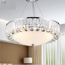 European-style crystal chandelier lighting led a round crystal lamp bedroom living room dining Chandeliers Rmy-027(China)