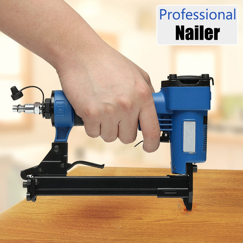 Best Promotion Pneumatic Nailer Air Nail Guns Stapler DIY Power Tools DIY Home Decor Professional Woodworking Hand Tools Kit pneumatic nail puller for recycle pallet nail remover air nail punch not include the custom tax