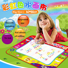 Magic Educational Water Drawing Mat 80*60CM Play With Pen EVA Rubber Painting Crafts  Arts And For Kids
