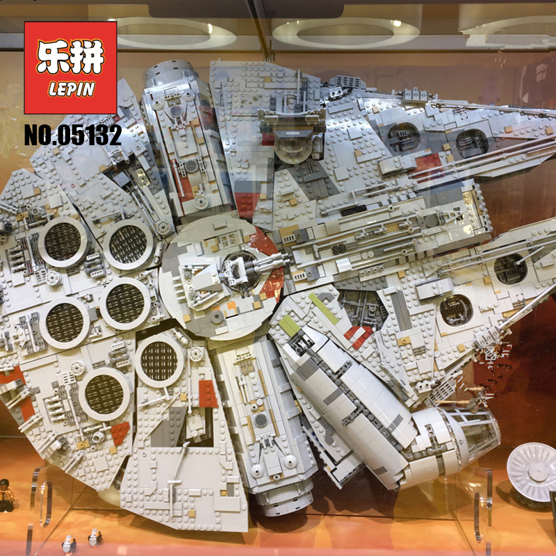 Lepin 05132 Starwars millénium Falcon 75192 ultime modèle de collecteur destructeur Legoings Star set Wars blocs de construction briques