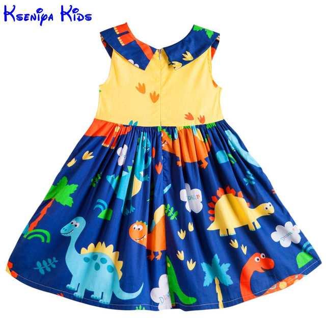 10a65527e70 Detail Feedback Questions about Kseniya Kids Big Little Girls' Dresses  Princess Sleeveless Peter Pan Collar Ribbons Bow Knot Summer Girl Animal Dress  Cotton ...