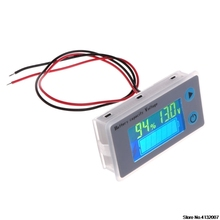 배터리 용량 표시기 전압 모니터 10 100 v 범용 배터리 용량 전압계 테스터 lcd 자동차 납산 표시기