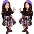 Conjuntos de roupas de moda meninas 2 pcs Fora Do Ombro T-shirt Tops + Floral conjunto Saia Curta vestidos filha da mãe roupas grande