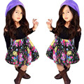Fashion girls clothing sets 2pcs Off Shoulder T-shirt Tops+Floral Short Skirt set mother daughter dresses clothes great