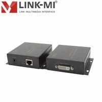 LINK MI LM DEX50 DVI extender 50m via CAT 5e/6 support Full HD 1080P EDID dvi video audio UTP Ethernet Sender and Receiver