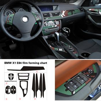 Samochód stylizacji nowy 3D 5D z włókna węglowego wnętrza samochodu konsoli środkowej zmienia kolor odlewnictwo naklejki naklejki dla BMW X1 E84 2010-2016 tanie i dobre opinie Folia z włókna węglowego CN (pochodzenie)
