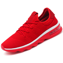 ФОТО high quality brand footwear men running shoes air mesh breathable male walking shoes red sneakers rubber for men outdoor black