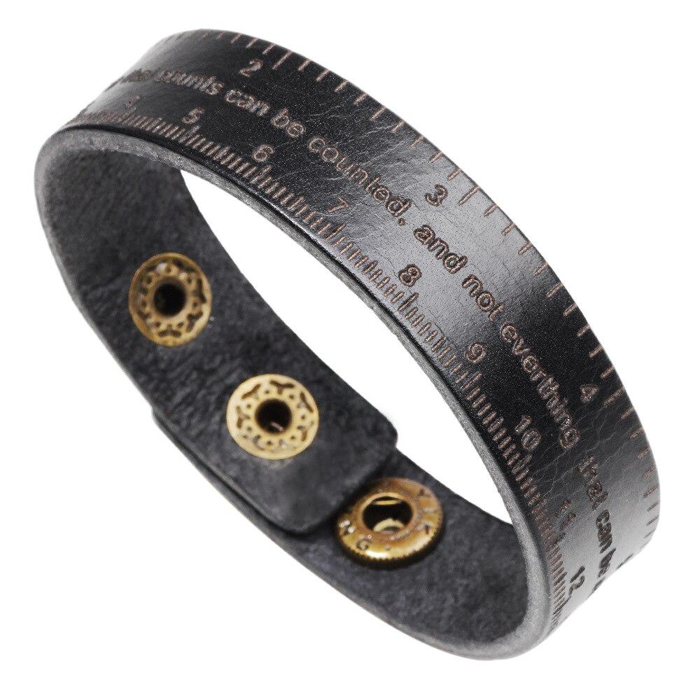Kirykle-Bracelet en cuir multifonctionnel, noir et marron, Vintage, à poignet large, avec boucle ajustable, pour hommes et femmes 2