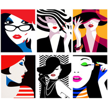 DIY Diamond Embroidery Cartoon Woman 5D Painting Cross Stitch Mosaic Needlework Crafts Colorful Gift