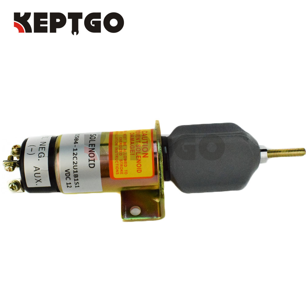 1504-12C2U1B1S1 Fuel Shutoff Solenoid For Kubota DF-750 (3 terminals)