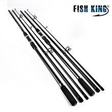 FISH KING High Carbon C.W. 3LB 3.6m 3.9m Super Hard Fishing Spinning Rod 3 Sections Saltwater Jigging Boat Spinnig Fishing Rod