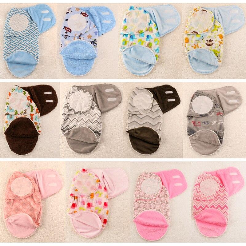 Animal Design Flannel Winter Soft Newborn Baby Swaddle Blanket Baby Bedding Sleeping Bag Functions envelope Wrap For Infant