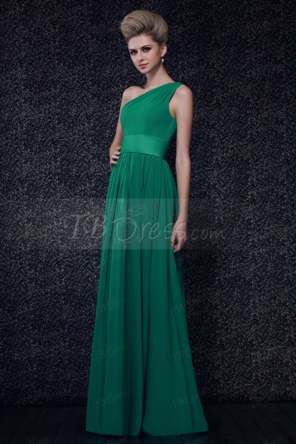 2015 sweetheart pleats a line one shoulder floor length chiffon 2015 sweetheart pleats a line one shoulder floor length chiffon emerald green bridesmaid dress long wedding party dress zh856 in bridesmaid dresses from ombrellifo Gallery