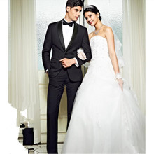 Men's suits the groom best man wedding dress fashion business formal suit shawl collar two-piece long-sleeved suit