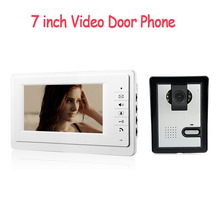 "7"" TFT Wired Color Video door phone Intercom Doorbell System IR Kit Speaker Phone Camera+Monitor For Home/Apartment"