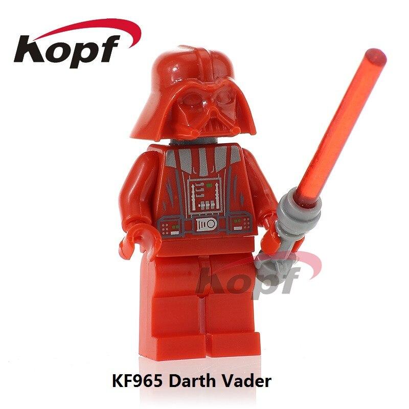 KF965 Single Sale Red Darth Vader Yoda Kylo Ren Ben Battle Damaged Anakin Building Blocks Bricks