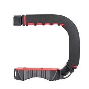 Image 1 - Ulanzi estabilizador con soporte de zapata fría Triple u grip, equipo de agarre para estudio fotográfico con micrófono para Dslr, Nikon, Canon, Smartpho