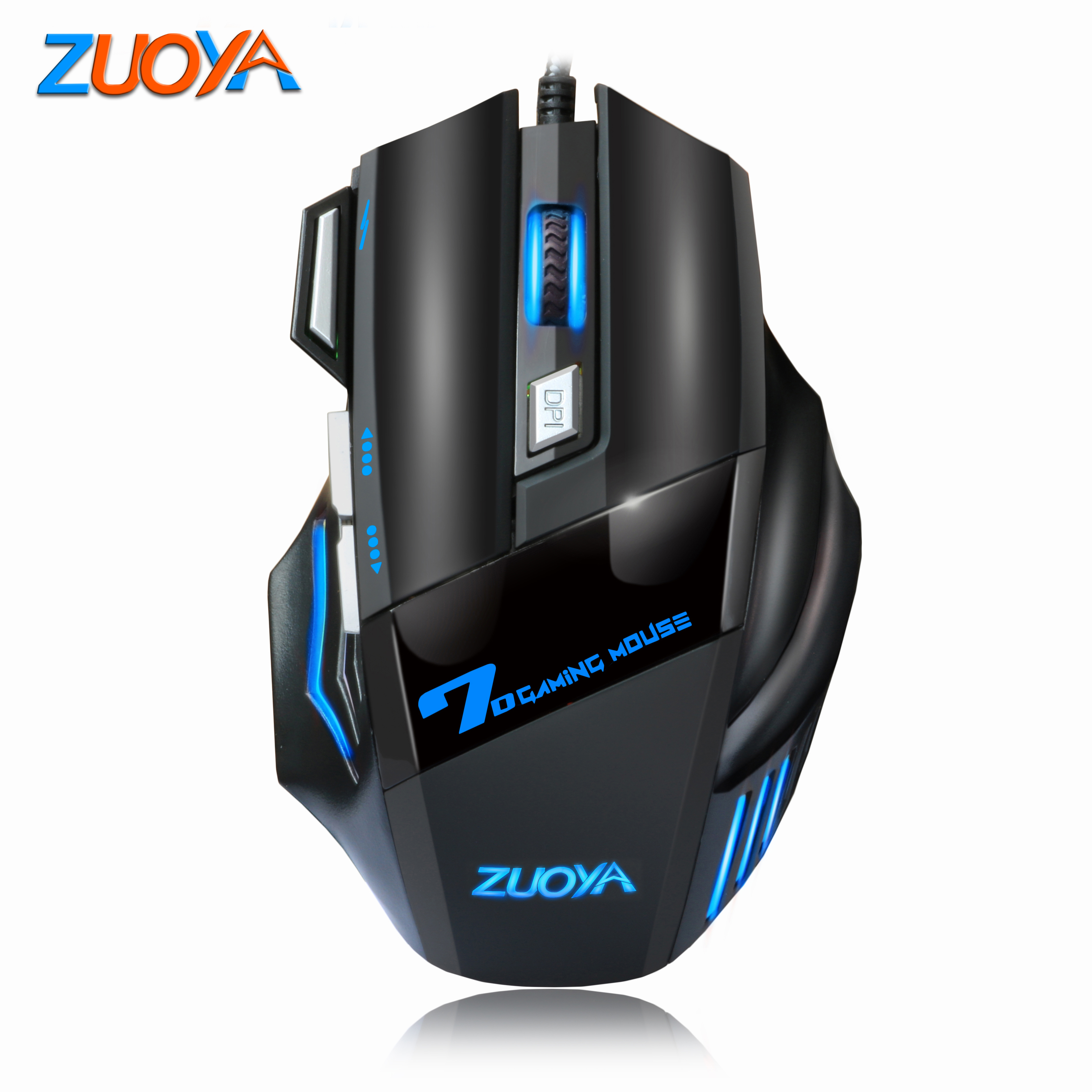 5500DPI Wired 7 Button LED Optical USB Gaming Mouse Mice For Pro Gamer
