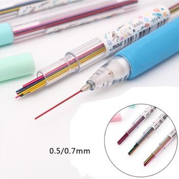 15 шт. (цвет)/коробка 0,5/0,7 мм цвет ed Карандаш свинец 2B Сменные механические стержни для карандаша для детей Diy принадлежности для рисования