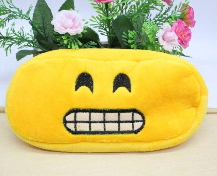 Kawaii Cartoon Pen case Totoro plush Smile Face Emoji Cute Pencil case School Minecraft etui trousse scolaire stylo 04819 24