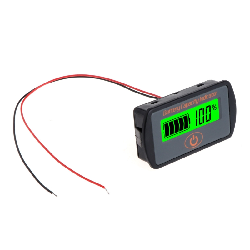 New HOT 12V 24V LCD Battery Capacity Voltmeter Tester Indicator Car Lead-acid Lithium 2016 new lithium battery battery capacity indicator lcd digital percentage residual capacity display