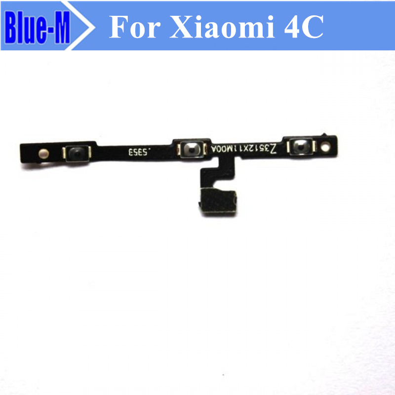 10pieces Side Power ON OFF Volume Key Button Switch Flex Cable Ribbon Replacement Repair Spare Parts For Xiaomi 4C Mi4C