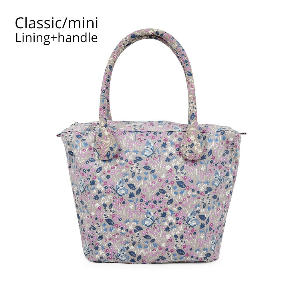 Canvas Fabric Short Long Round Flora Handle Small Big Insert Lining For Obag Classic Mini O Bag Women's Bags Shoulder Handbag