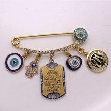 islam Quran Vanyakad Turkish evil eye hamsa hand of fatima brooch baby pin