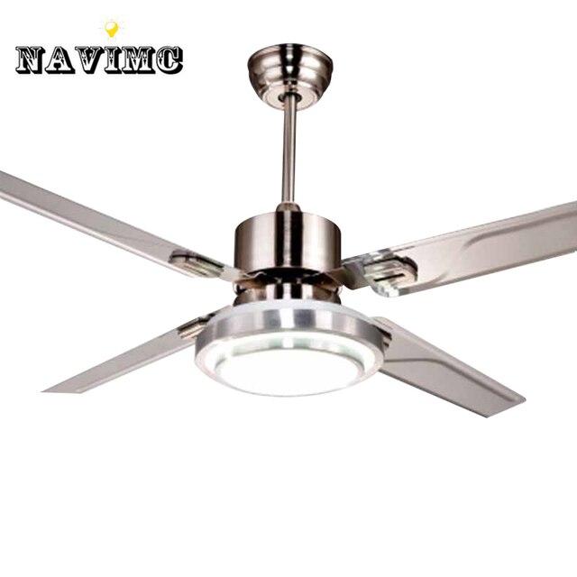Aliexpress comprar control remoto ventiladores de techo con control remoto ventiladores de techo con luces moderno led luces moda acero inoxidable ala luces ventilador aloadofball Images
