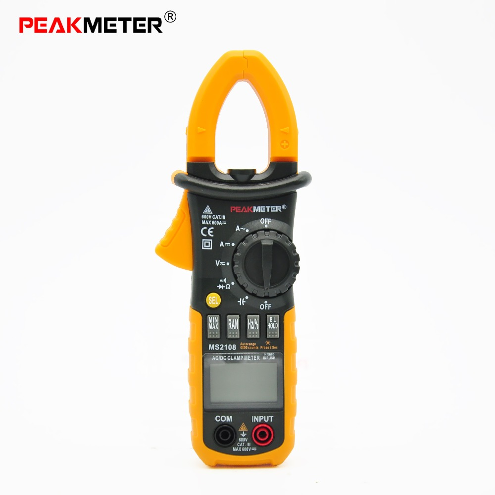 MS2108 Digital Clamp testing True RMS AC/DC Current Clamp Meter equal to FLUKE F317 aimometer ms2108 true rms ac dc current clamp meter 6600 counts 600a 600v