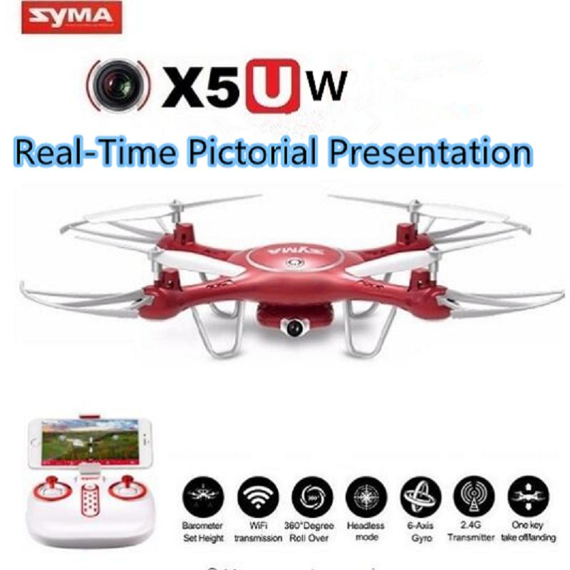 Syma X5UW RC Drone Wifi FPV Real Time Camera Video Remote Control Quadcopter Toy Helicoptero Air Plane Aircraft Kids Gift Toys 902s remote control drone wifi fpv rc helicopter hd camera video quadcopter kids toy drone aircraft air plan toys children gift