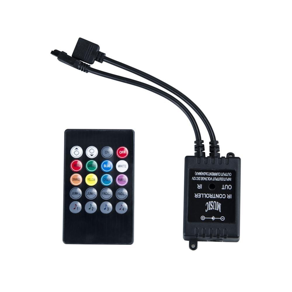 Eeetoo Музыка ИК-пульт дистанционного Управление; RGB Управление; для 2835 5050 3825 RGB Светодиодные ленты свет 20 ключ Музыкальный звук сенсор светодио...
