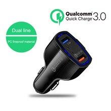 Автомобильный прикуриватель Dua USB Quick Charge 3,0 2,0 зарядное устройство для мобильного телефона type-C автомобильное зарядное устройство для телефона планшет прикуриватель
