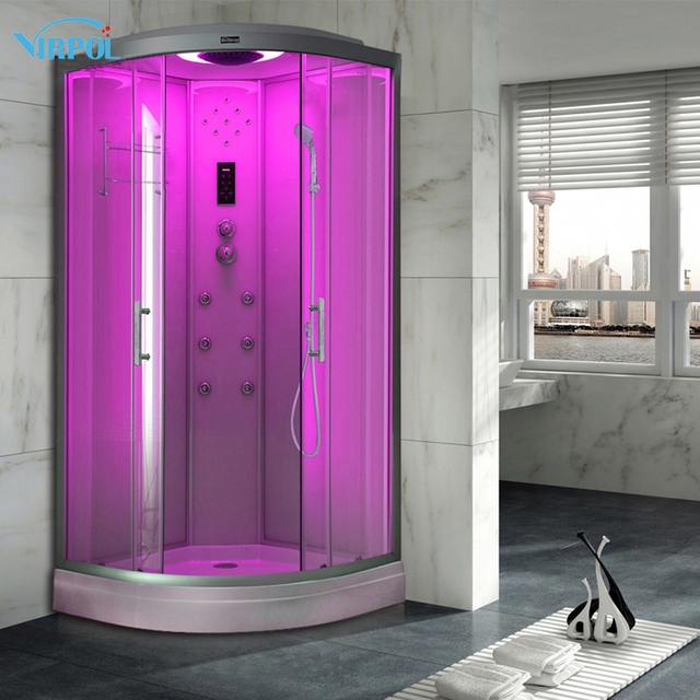1 90cm White Hydro Without Steam Shower Room Cubicle Enclosure Bath
