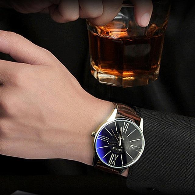 Mens Watches Top Brand Luxury 2017 Yazole Watch Men Fashion Business Quartz-watch Minimalist Belt Male Watches Relogio Masculino