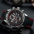 Relogio Masculino Herren Uhren Top Brand Luxus Quarzuhr Männer Casual Leder Military Chronograph Sport Armbanduhr-in Quarz-Uhren aus Uhren bei