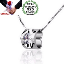 OMHXZJ Wholesale jewelry woman girl love heart shine AAA zircon 925 sterling silver pendant Charms PE32 ( NO Chain Necklace )
