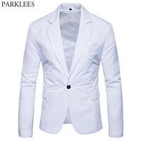 Мужской приталенный белый пиджак брендовый на одной пуговице с зубчатым отворотом мужской костюм пиджак вечерние свадебные деловые повсед...