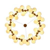 Nordic Творческий круг Dia.95cm светодиодный Люстра Свет Круглый пузырь 45 шт. стекло абажур вилла G4 светодиодный светильник 3 Вт AC220V бесплатная дос