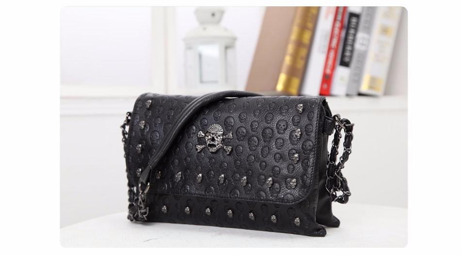 Vintage Fashion Skull Messenger Bag