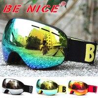 Benice Brand Skiing Eyewear Anti Fog Double Lens Skiing Goggle Unisex Multi Color Snow Ski Glasses