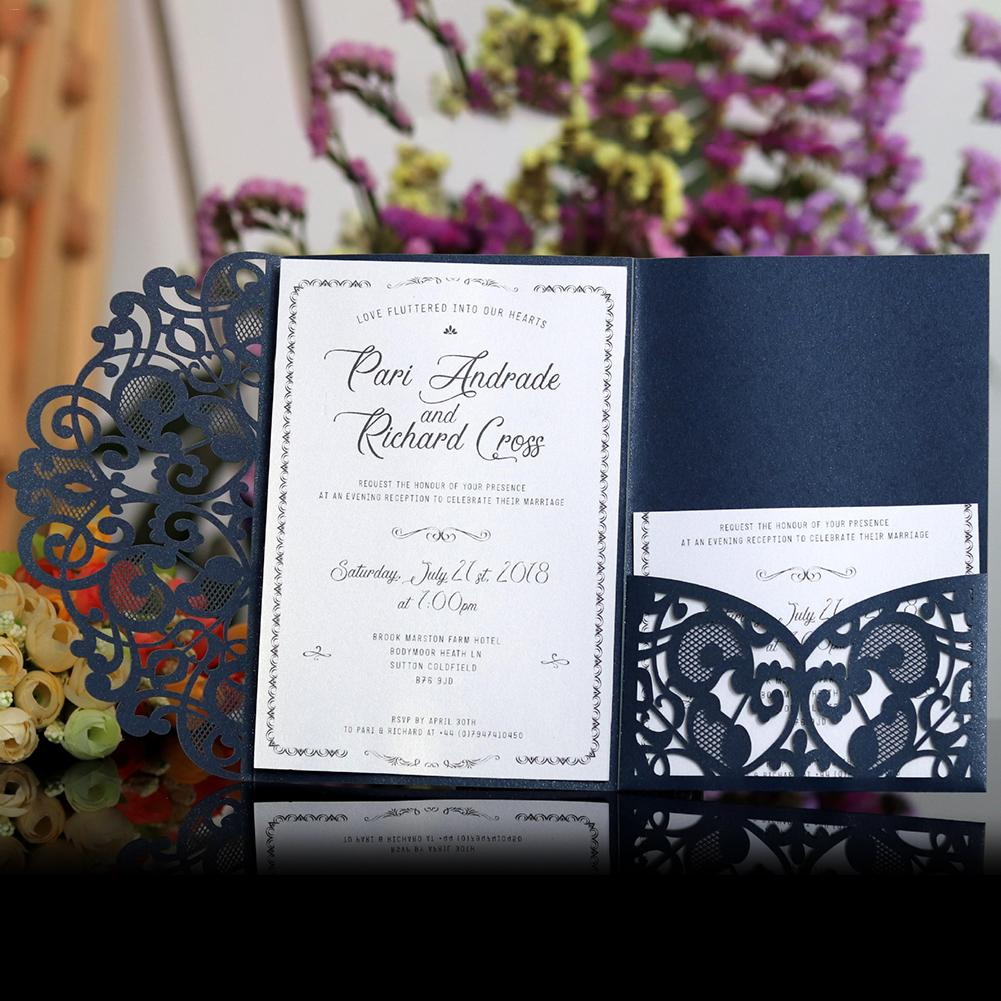 Wedding Invitations Business: New 10PCS European Style Laser Cut Wedding Invitations