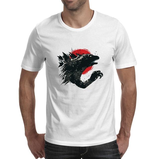 7567d984b143 Godzilla T Shirt Kaiju Monster Japanese Movie Anime Cartoon Novelty  Creative Fashion T-shirt Style Punk Casual Unisex Tee