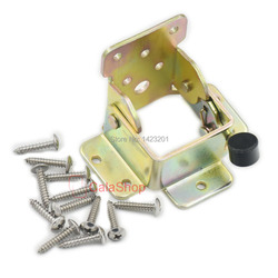 2 pçs/lote dobrável de aço bloqueio de ramal cama mesa pés Leg dobrável suporte de apoio quadro parafuso Choi de zinco