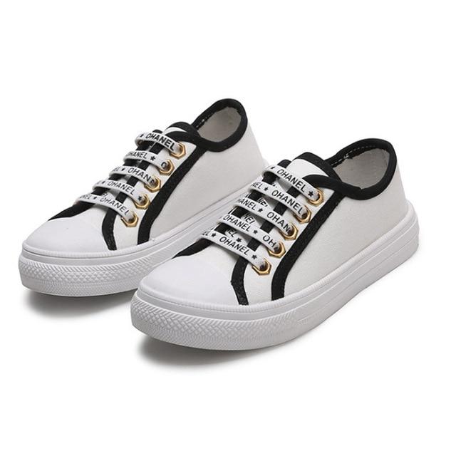 184c677dcd2c New 2018 Kids Children Boy Shoes Canvas Lace Up Casual Girls Flat Shoes  White Black Autumn School Sneakers Canvas Girls Shoes